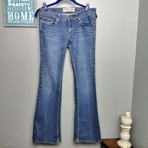 PINK VS Wide Leg Flare Jeans Size 6 Short
